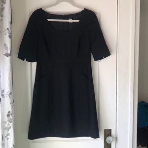 JCrew Black suiting dress